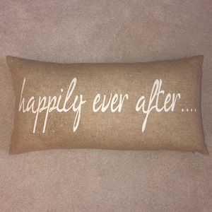Happily Ever After Decorative Pillow NWOT